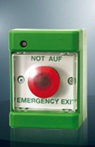 Beleuchteter Notschalter mit MPA-Zulassung-
