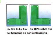 Gekröpfte Montageplatten für Panikstangen-