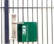 Montage an Gittertüren-